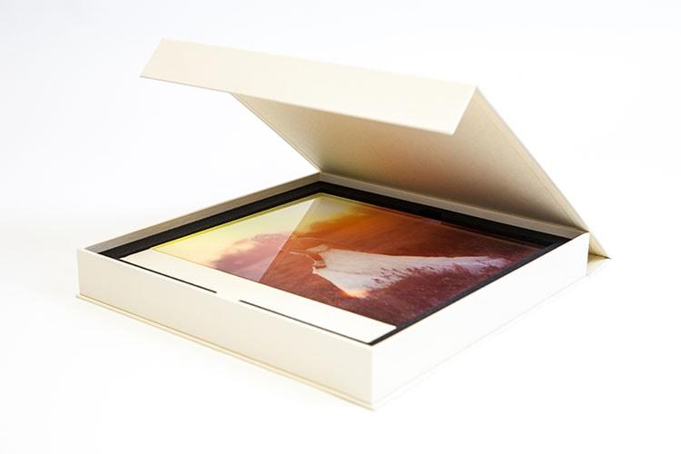 Acryl-Hochzeits-Fotoalbum mit Verpackung